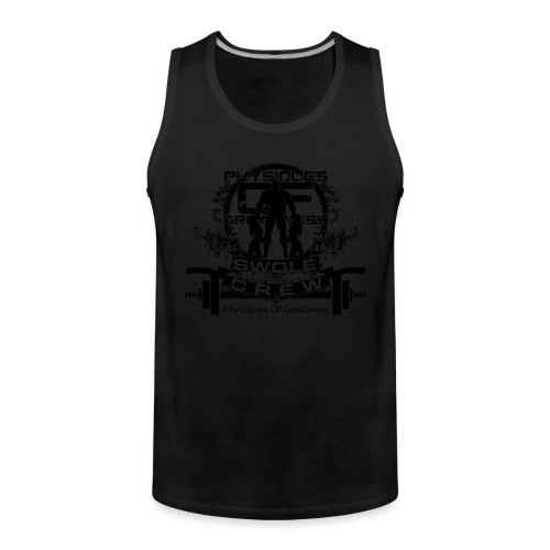 swole crew front - Men's Premium Tank Top