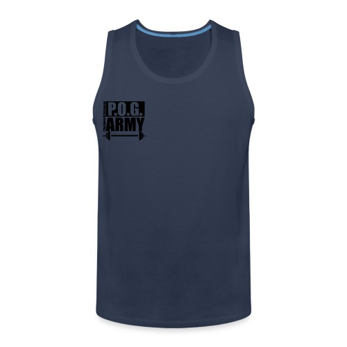 POG Army Black - Men's Premium Tank Top