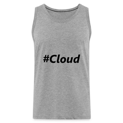 #Cloud black - Männer Premium Tank Top