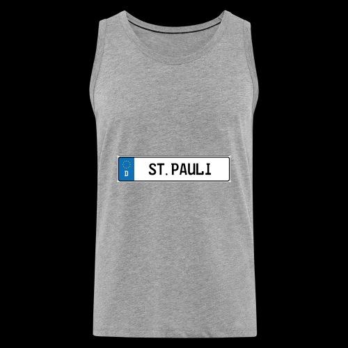 Kennzeichen St.Pauli - Männer Premium Tank Top