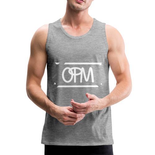OPM Logo weiss - Männer Premium Tank Top