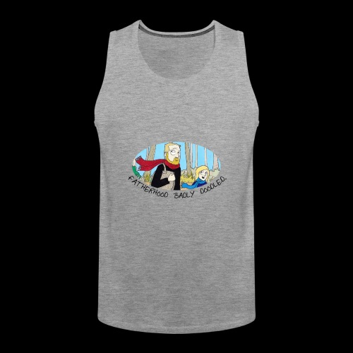 Fatherhood Badly Doodled - Men's Premium Tank Top