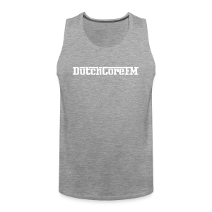 DutchCoreFM Logo White - Men's Premium Tank Top