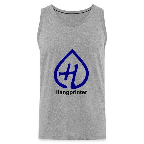 Hangprinter logo and text - Premiumtanktopp herr
