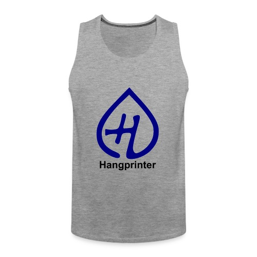 Hangprinter logo and text - Premiumtanktopp herr