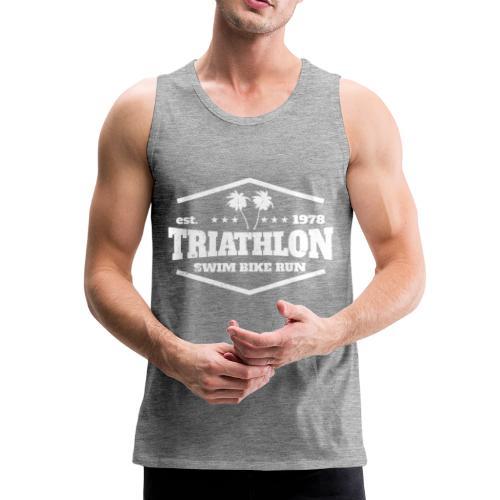 Triathlon est. 1978 Retro - Männer Premium Tank Top