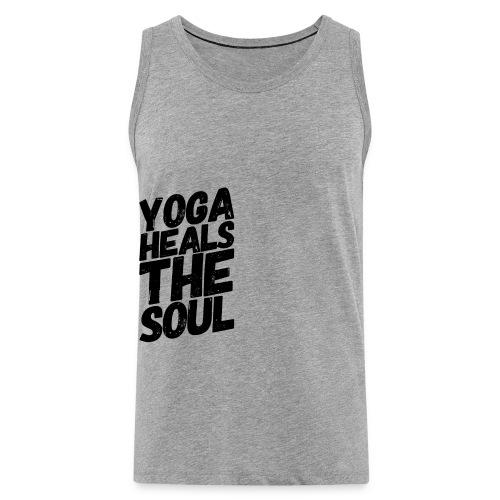 yoga heals the soul - Mannen Premium tank top