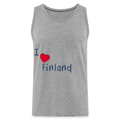I Love Finland - Miesten premium hihaton paita