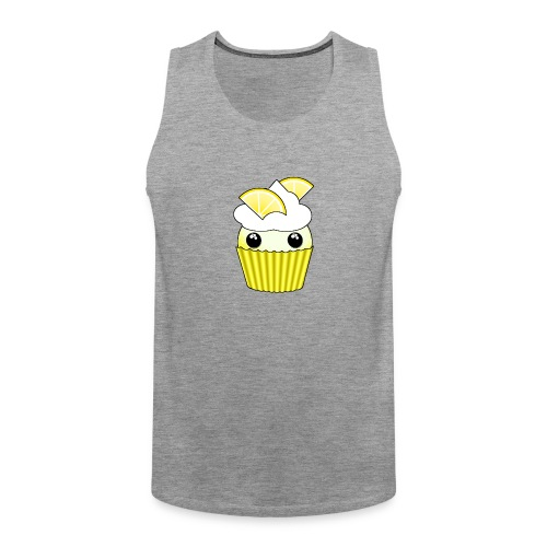 Kawaii lemon cupcake - Men's Premium Tank Top