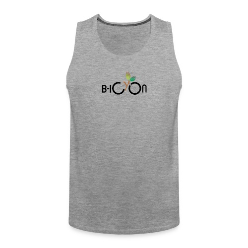 B-Icon Logo (Light Colored Items) - Mannen Premium tank top
