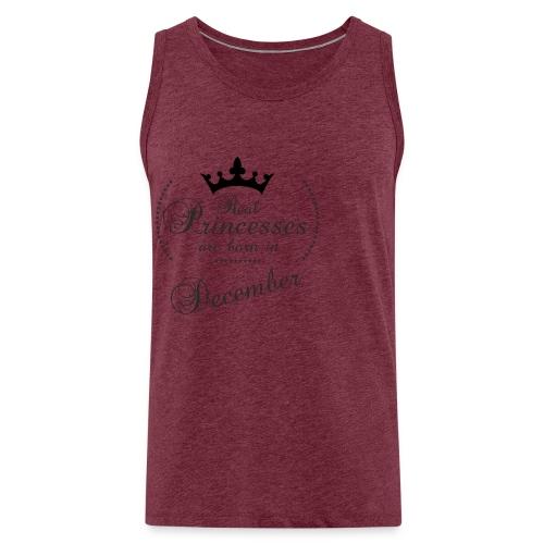 Real Princesses black December - Männer Premium Tank Top