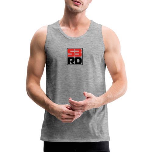 53RD Logo kompakt umrandet (schwarz-rot) - Männer Premium Tank Top