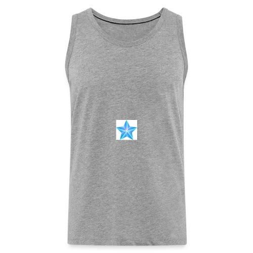 blue themed christmas star 0515 1012 0322 4634 SMU - Men's Premium Tank Top