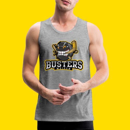Busters Fun Shirt - ANGRY PUCK - Männer Premium Tank Top