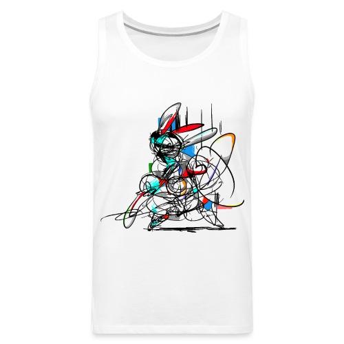 Ninja fighter Easter Bunny / Abstract - Men's Premium Tank Top