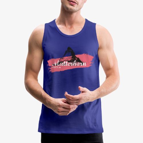 Matterhorn - Cervino - Color Coral - Men's Premium Tank Top