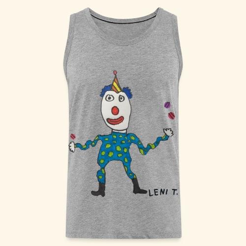LeniT Clown - Miesten premium hihaton paita