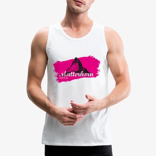 Matterhorn - Matterhorn in pink - Men's Premium Tank Top