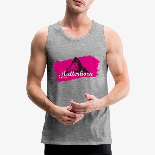 Matterhorn - Cervino en rosa - Men's Premium Tank Top