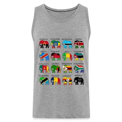 ELEFANTEN AFRIKAS mit Flaggen - Männer Premium Tank Top