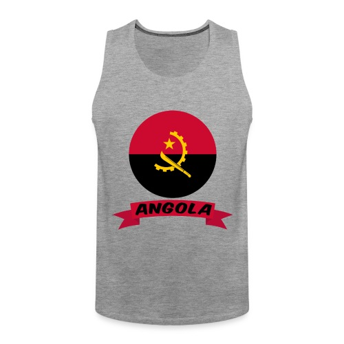 flag of Angola t shirt design ribbon banner - Canotta premium da uomo