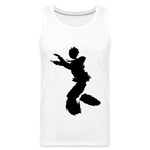 Wing Chun / Kung Fu Tusche Figur VEKTOR - Men's Premium Tank Top