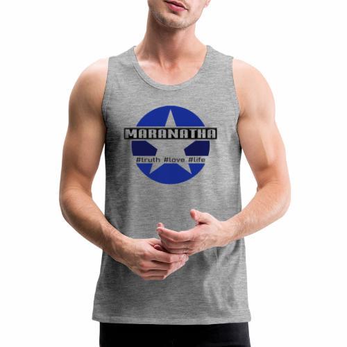 maranatha blau-braun - Männer Premium Tank Top