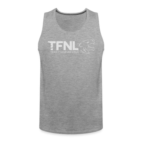 TFNL White/Heather Blue Logo Tee - Men's Premium Tank Top