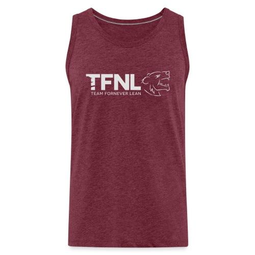 TFNL White/Heather Blue Logo Tee - Men's Premium Tank Top