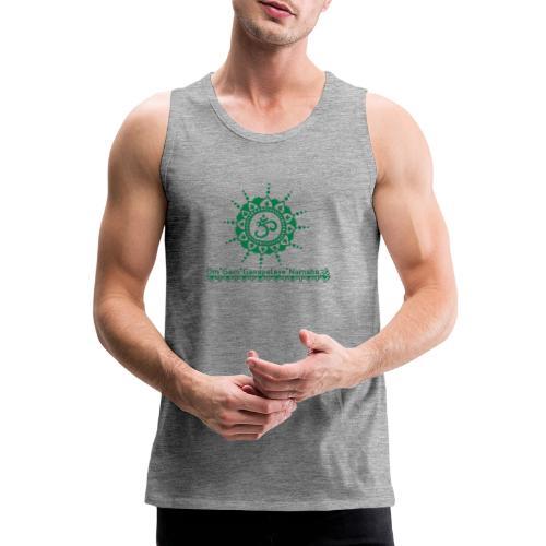Ganesha Mantra OM Symbol Yoga Tshirt Hoodie - Männer Premium Tank Top
