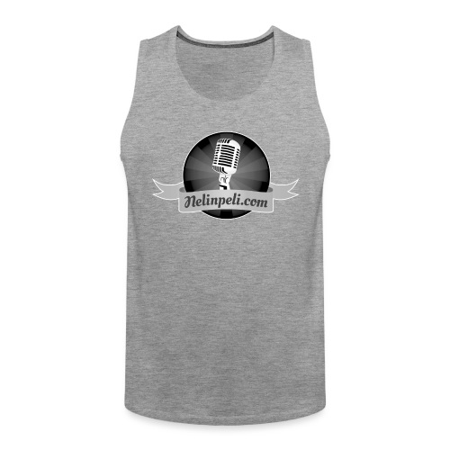 Nelinpelin logo MV - Miesten premium hihaton paita