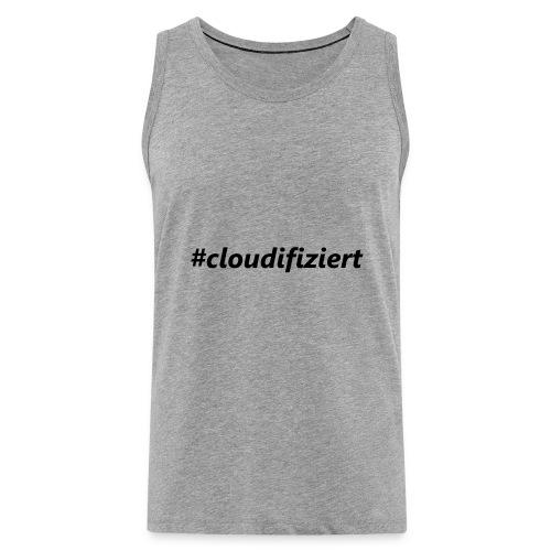 #cloudifiziert black - Männer Premium Tank Top