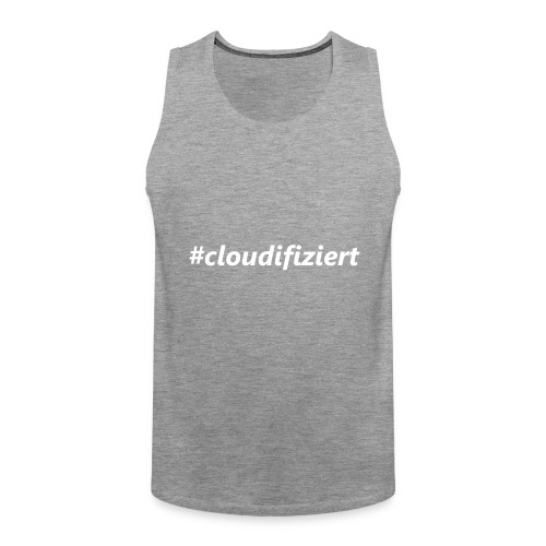 #Cloudifiziert white - Männer Premium Tank Top