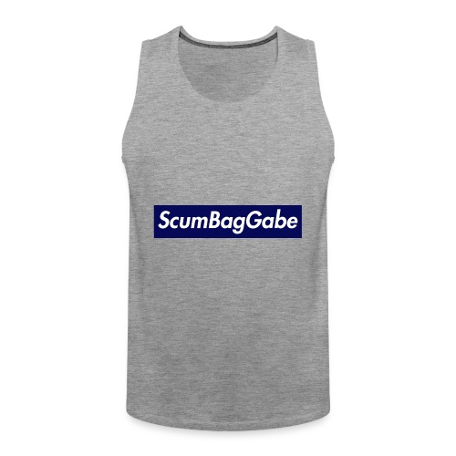 ScumBagGabe Blue XL Logo - Men's Premium Tank Top