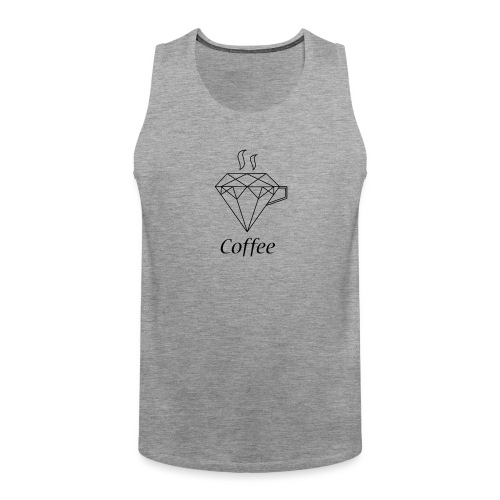 Coffee Diamant - Männer Premium Tank Top