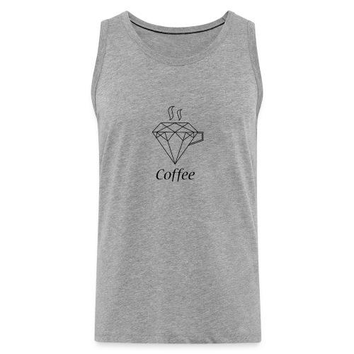 Coffee Diamant - Männer Premium Tank Top