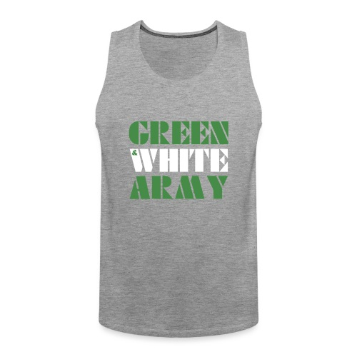 GREEN & WHITE ARMY - Men's Premium Tank Top