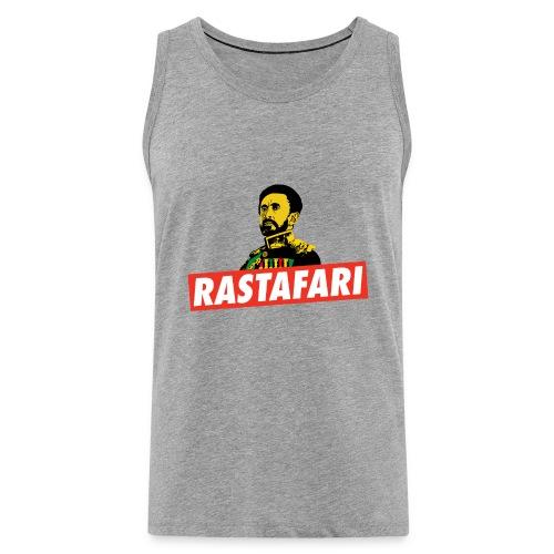 Rastafari - Haile Selassie - HIM - Jah Rastafara - Männer Premium Tank Top