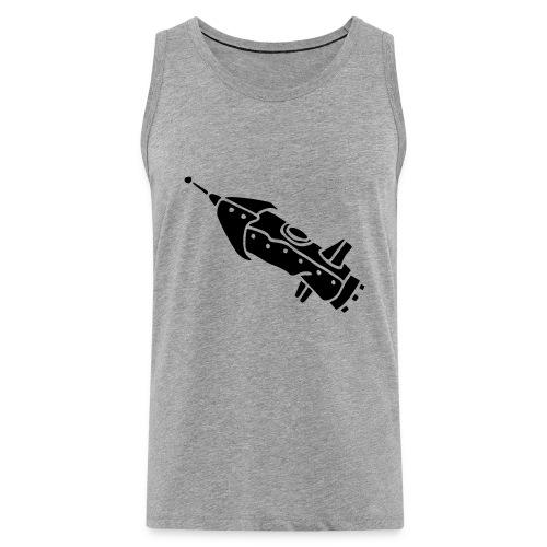space shuttle space ship Rakete rocket satellite - Männer Premium Tank Top
