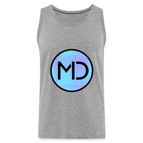 MD Blue Fibre Trans - Men's Premium Tank Top