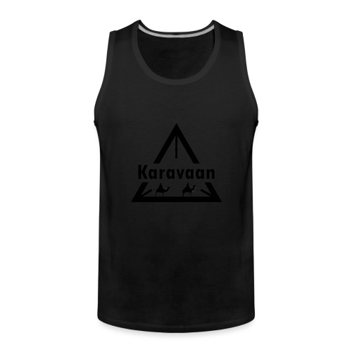 Karavaan Black (High Res) - Mannen Premium tank top