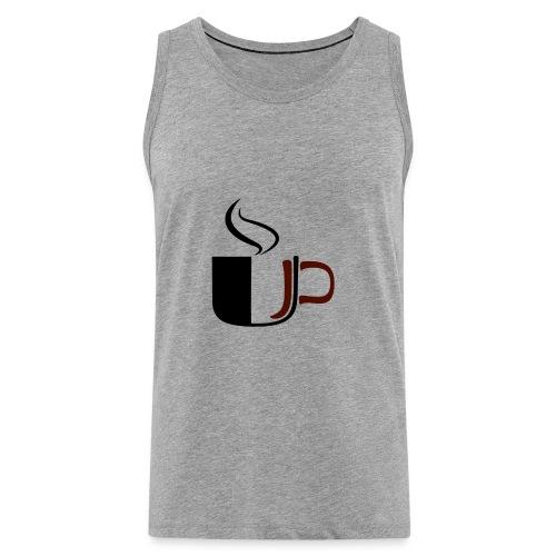 JU Kahvikuppi logo - Miesten premium hihaton paita