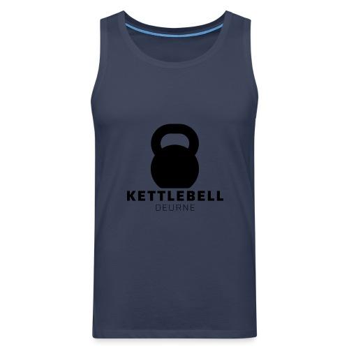 Kettlebell Deurne Logo Zwart - Mannen Premium tank top
