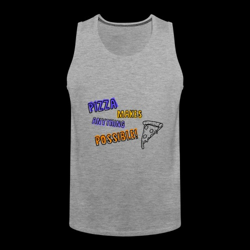 Pizza makes anything possible! - Colorful Design - Canotta premium da uomo