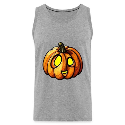Pumpkin Halloween watercolor scribblesirii - Herre Premium tanktop