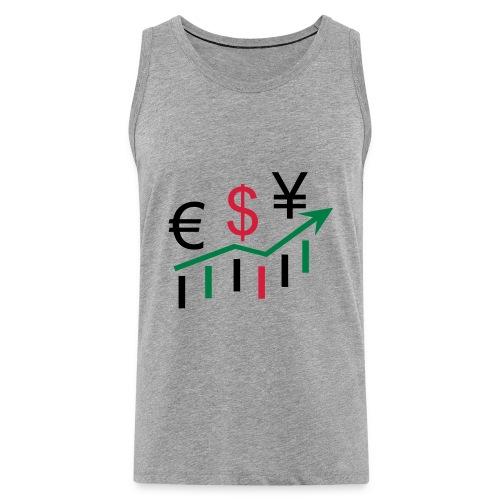 forex dollar euro - Männer Premium Tank Top