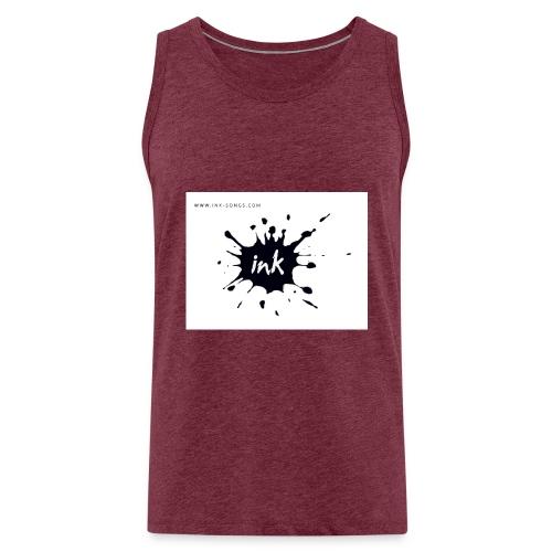 Ink Logo and website - Men's Premium Tank Top