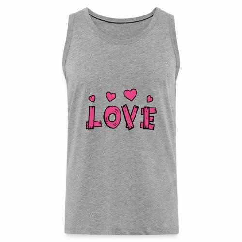 Love tuoteperhe - Miesten premium hihaton paita