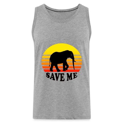 Elefant SAVE ME Schattenriss Sonne - Männer Premium Tank Top