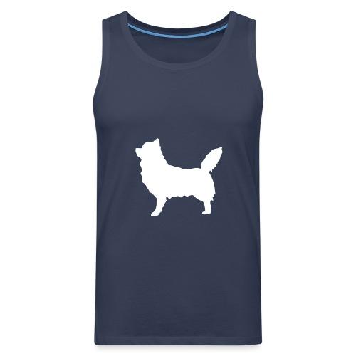 Chihuahua pitkakarva valkoinen - Miesten premium hihaton paita